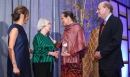 Princess Zahra Aga Khan is presented the Huffington Award by Nancy C. Allen, Honourary Co-Chair and Asia Society Center Board Me