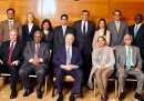 Hazar Imam with AKU Board of Trustees, leaders of the Jamat and AKDN and Portuguese universities  delegates   2019-04-13