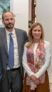 Prince Hussain seen with Fareen nee Elizabeth Hoag